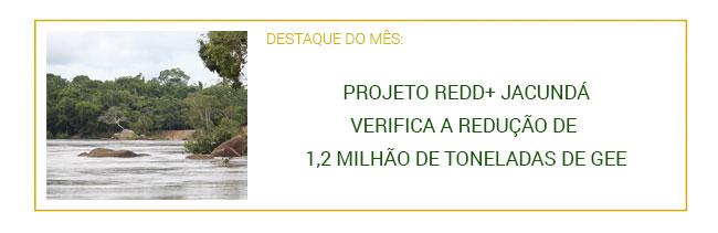 Projeto REDD+ Jacundá verifica a redução de 1,2 milhão de toneladas de GEE